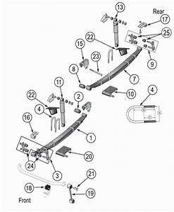 Jeep Cj Suspension Parts Exploded View Diagram  Years 1976