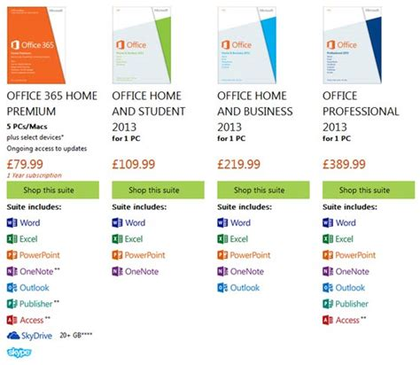 Ms Office Version by Microsoft Office 2013 Now Available In The Uk Software