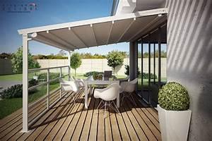 Anbau terrassenuberdachung mit faltdach pergalpack by dirello for Anbau terrassenüberdachung