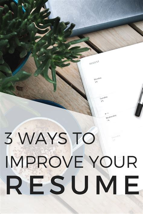 How To Improve Your Resume by 3 Ways To Improve Your Resume When Gives You Rubi