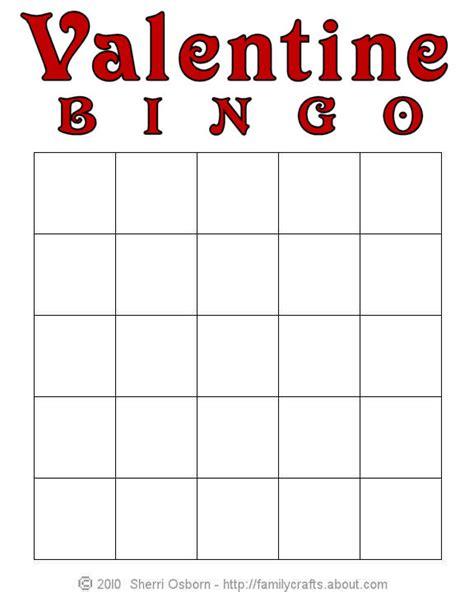 Free Printable Valentine Bingo Cards Blank
