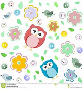 Seamless Colourful Owl Pattern For Kids Stock Images ...