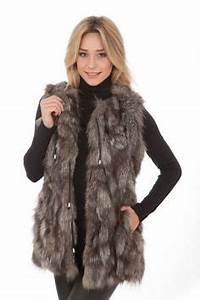 Veste Sans Manche Femme Fourrure : gilet femme fourrure sans manche ~ Melissatoandfro.com Idées de Décoration