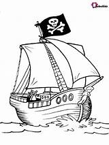 Pirate Ship Coloring Printable Bubakids sketch template