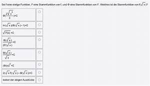 Stammfunktionen Berechnen : analysis 2 w hlen sie die stammfunktionen aus f x ~ Themetempest.com Abrechnung