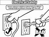 Electricity Coloring Safety Electrical Safely Unplugging Colouring Pages Related Designlooter Drawings Resolution Bigger 556px 18kb Medium sketch template
