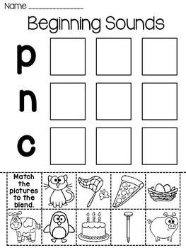 beginning sounds sort worksheets  images beginning