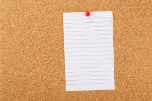 design pinnwand note paper on cork board free stock photo domain pictures
