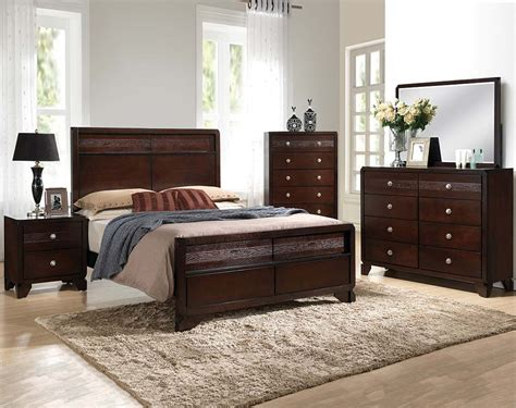 Brown 3, or 5 Piece Bedroom Group  Tamblin Bedroom Set