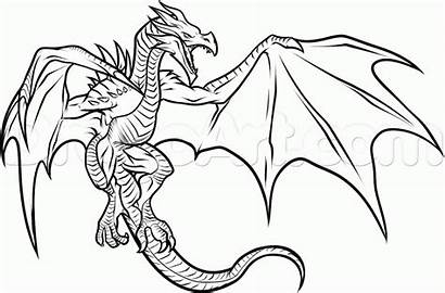 Dragon Skyrim Draw Dragons Coloring Drawing Pages