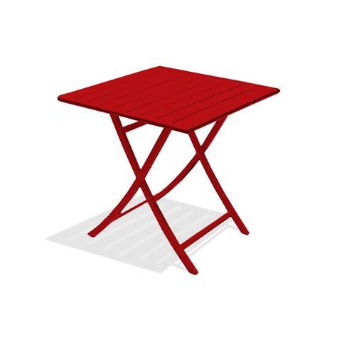 table de jardin marius carree rouge carmin  personnes leroy merlin