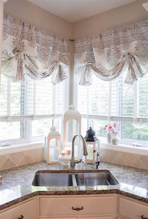 sew curtain valances styled  lace