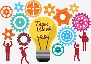Teamwork Vector Material, Teamwork, Gear, Light Bulb PNG ...