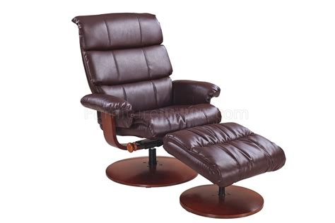 calgary whiskey bonded leather modern recliner chair w ottoman