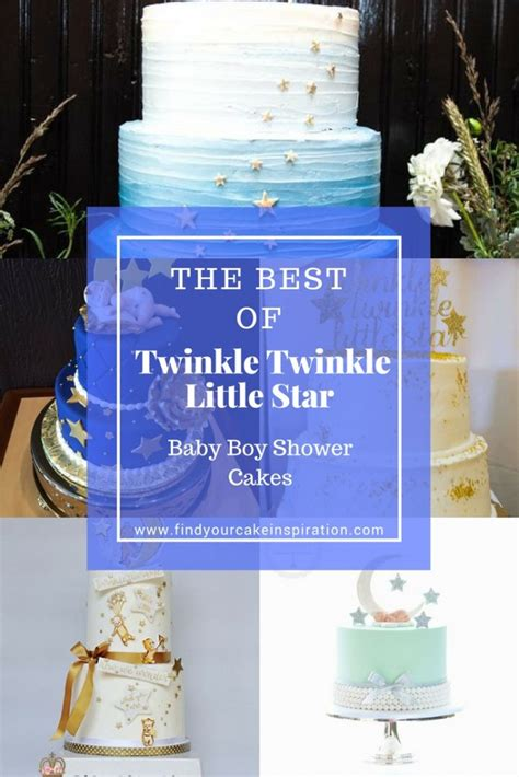 twinkle twinkle  star baby boy shower cakes find
