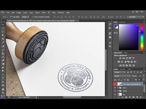create stamp style logo  rubber stamp psd mockup