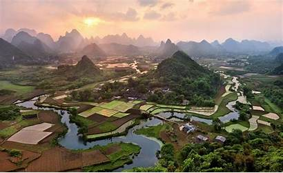 Places Around Yangshuo County Landscapes China Village