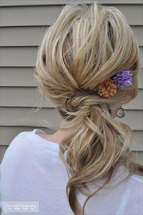 knot ponytail  small  blog
