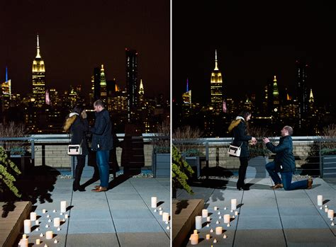 romantic rooftop proposal  nyc ny proposal photographer