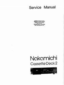 Nakamichi Deck 2 Original Service Manual