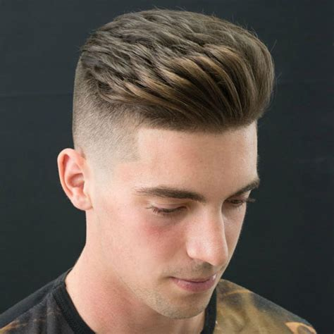 comb hair style brushed up hairstyle