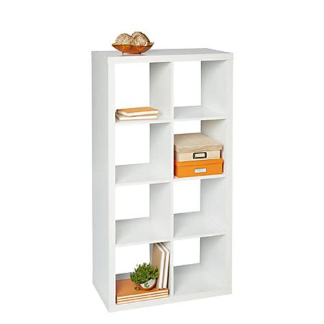 Cube Bookcase White by Brenton Studio Cube Bookcase 8 Cube White By Office Depot