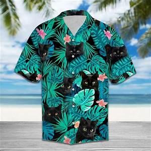 Guide Size Chart Black Cat Hawaiian Shirt