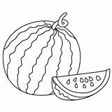 Watermelon Drawing Line Coloring Melon Water Colouring Pages Fruit Watermelons Drawings Whole Sketch Template Getdrawings Printablecolouringpages Larger Credit Paintingvalley sketch template