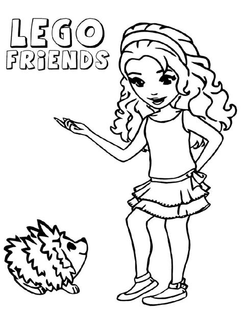 38 Lego Girl Coloring Pages, Lego Friends Coloring Pages ...