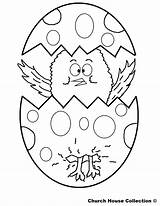 Easter Chick Egg Coloring Templates Colour Animals Labels sketch template