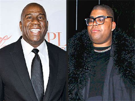Magic Johnson's Gay Son, Ej Reveals New Body After 22kg