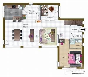 maison bois 2 detail du plan de maison bois 2 faire With faire un plan de maison 2 une maison en ossature bois detail du plan de une maison