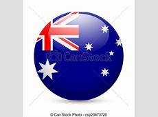 Vector Illustration of Round glossy icon of Australia