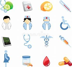 Health And Nutrition Icons stock vector. Illustration of ...