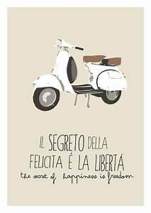 Vespa poster italian icon scooter vintage   motitos ...