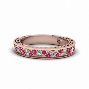 affordable and appealing pink sapphire wedding rings With pink wedding rings for women