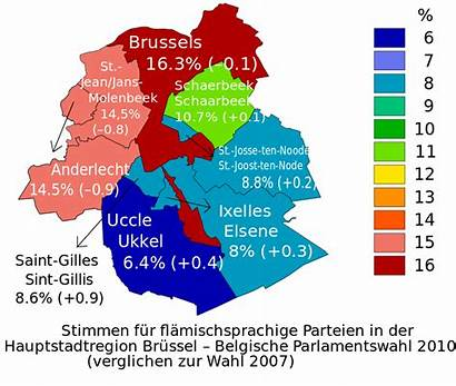 Brussels Dutch Parties Speaking Map Political Region