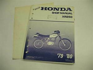 Honda Shop Repair Manual Xr250 Xr 250 1979
