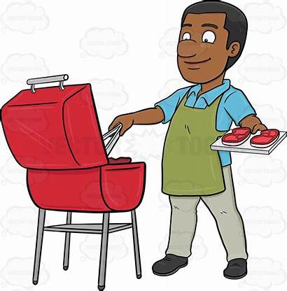 Clipart Grilling African American Cookout Background Transparent