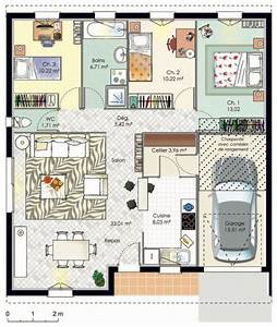 maison accessible detail du plan de maison accessible With plan de maison 110m2 4 maison accessible detail du plan de maison accessible