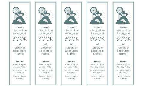 bookmark template bookmark template  word