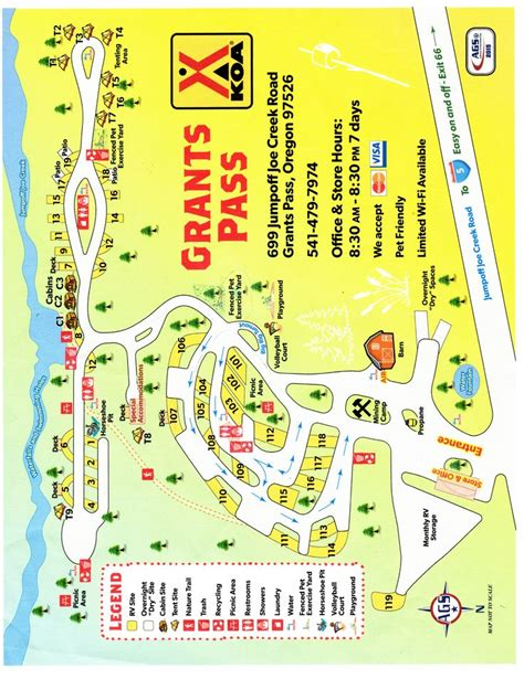Campground Site Map Jump Off Joe Creek Koa #camping