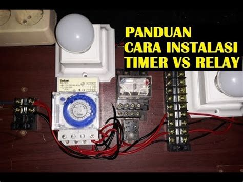 panduan cara pasang timer theben sul 181h ke relay atau kontaktor 1 in to 2 out load youtube