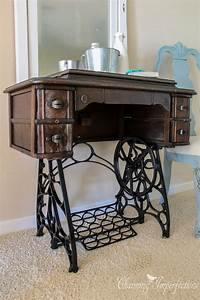 antique sewing machine table Best 25+ Antique sewing tables ideas on Pinterest ...