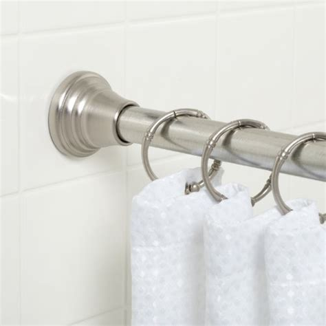 twist and fit curtain rod 72 inches zenna home 661nnsb deluxe tension shower curtain rod 44