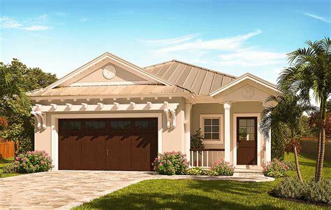 Narrow Lot Florida House Plan