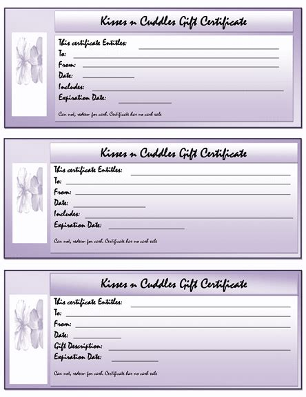 Gift Certificate Template Word Free Gift Certificate Templates Microsoft Word Templates