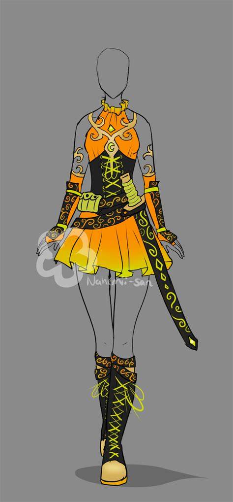 See more ideas about anime outfits, drawing clothes, art clothes. Fantasy Outfit #5 - Auction closed by Nahemii-san on ...