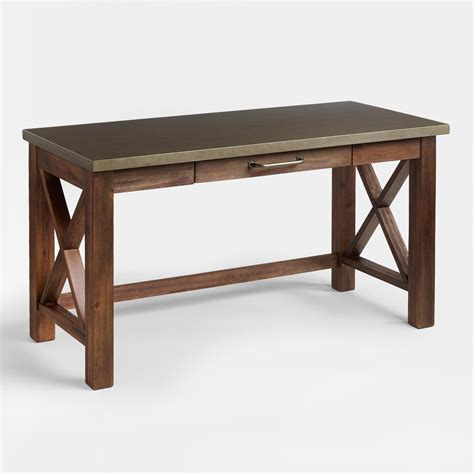Large Kitchen Ideas - wood office desk fascinating wood farmhouse desk model houzidea