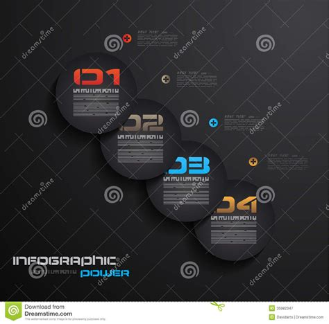 infographic design template with paper tags idea to